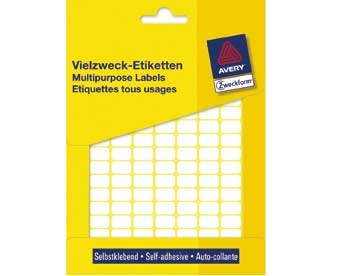 Etiket Avery 3318 Hvid 18x22mm Mp/1.200
