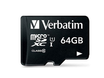 Micro SDXC Card 64GB Class 10 with Adapt