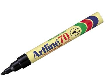 Marker Artline 70 Sort 1,5mm