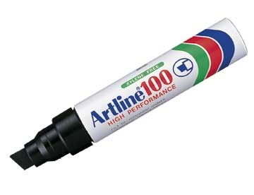 Marker Artline 100 Sort 7,5/12mm