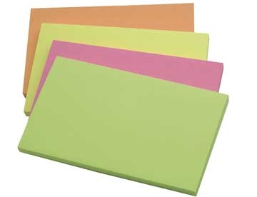 Notes Q-Connect Rainbow Neon 76x127mm Pk/12
