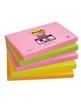 Notes Post-it 655S-N Super Sticky 76x127mm Neon Ass. Pk/5