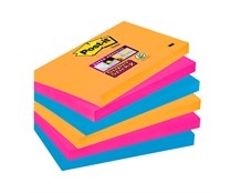Notes Post-it Super Sticky 655 Bangkok 76 x 127mm Pk/6