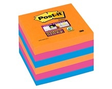 Notes Post-it Super Sticky 654 Bangkok 76 x 76mm Pk/6