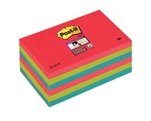 Notes Post-it Super Sticky 655 Bora Bora 76 x 127mm Pk/6