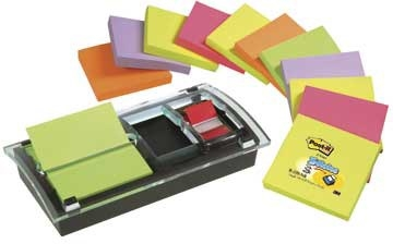 Dispenser Post-it DS100VP Millenium inkl. 12 x Z-notes samt index
