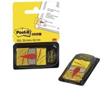 Indexfane Post-it 680-31 Underskriv her 25x43mm