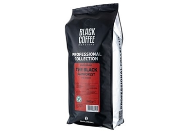Kaffe Black Coffee hele bønner The black rainforest 1kg
