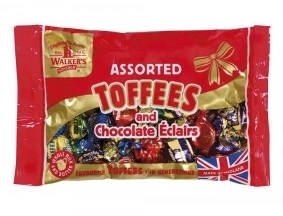 Karameller Walkers Toffees 400g ass.
