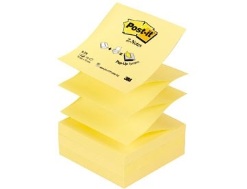 Z-Notes Post-it R330 Gul Super Sticky 76x76mm